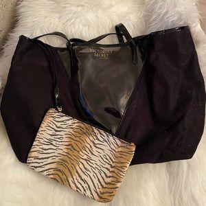 Victoria Secret tote bag w/ leopard print pouch🐆